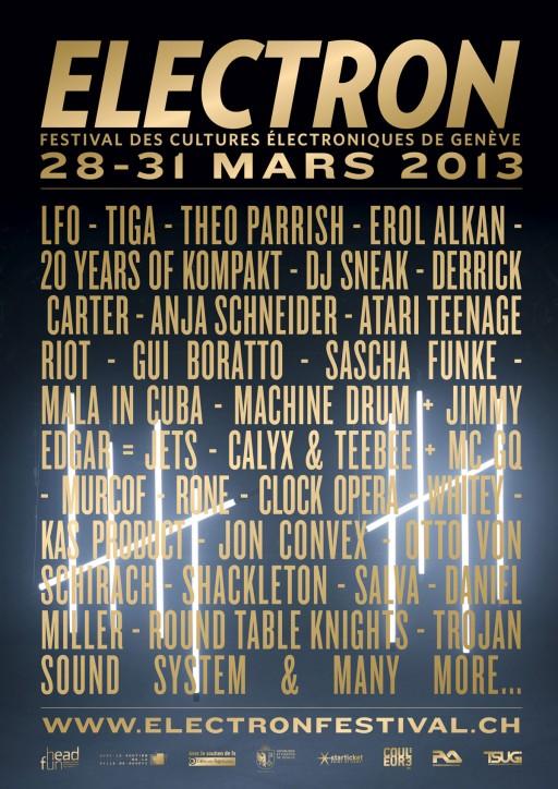 Electron Festival affiche 2013