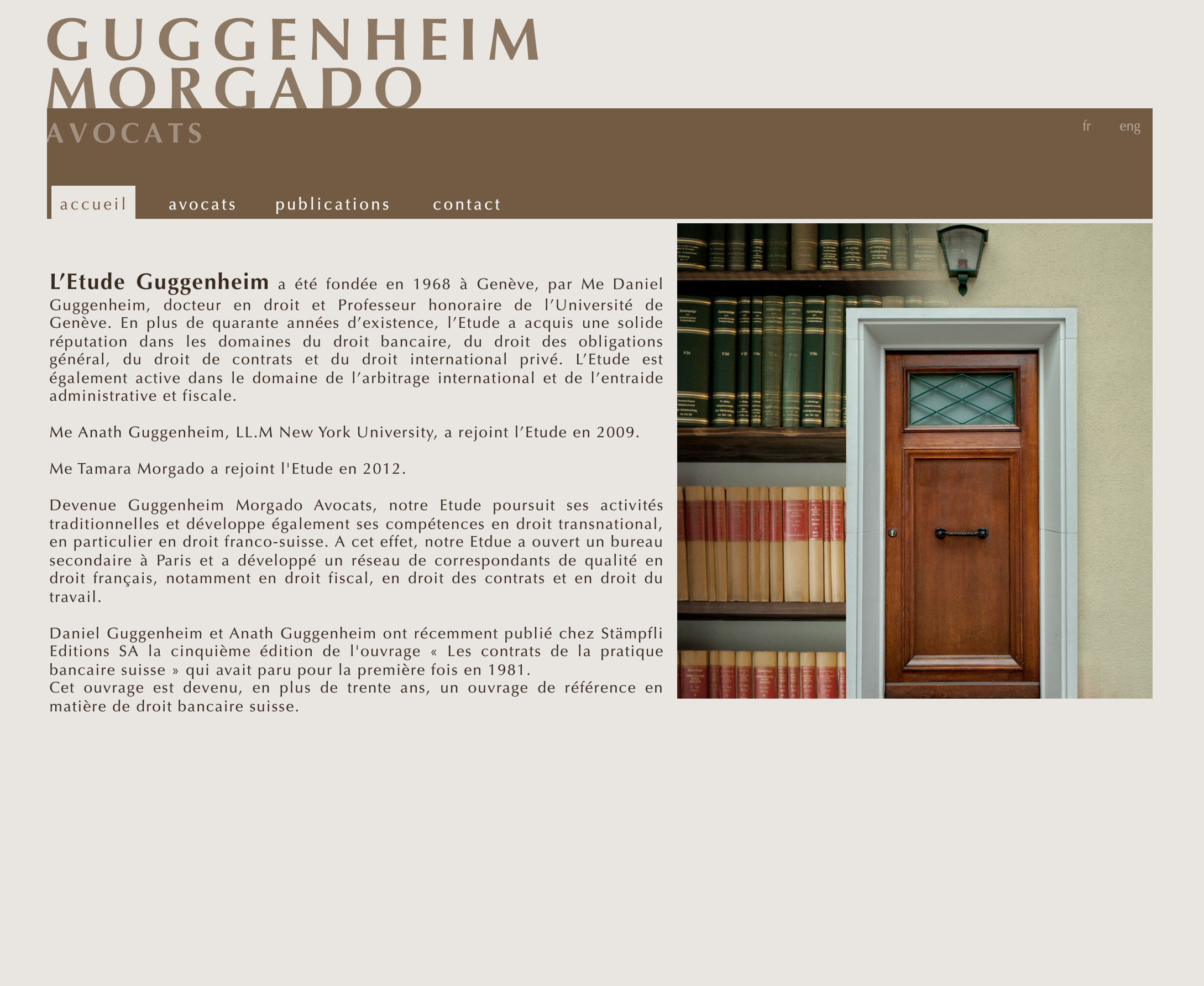 Ligne Graphique Website Carte De Visite Papier A Lettre Voeux Et Prise Vue Photo Pour Letude Guggenheim Morgado Avocats Basee Geneve